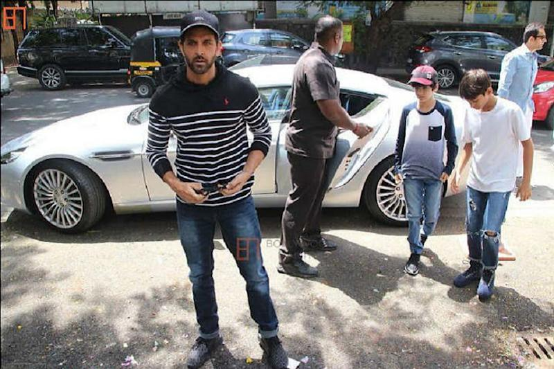 Bollywood Actor Hrithik Roshan with his Aston Martin Rapide S. (Image: Team-bhp)