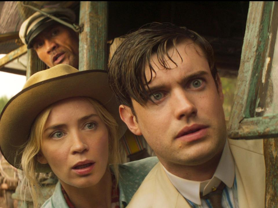 Emily Blunt as Lily Houghton and Jack Whitehall as MacGregor Houghton (Disney)