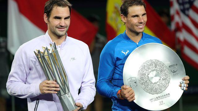 Federer beat Nadal in the Shanghai Masters final. Image: Getty