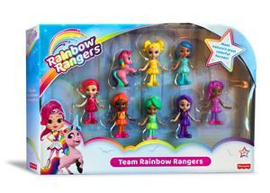 Genius Brands International, Inc. (NASDAQ: GNUS) announced today the debut of the first toys from Fisher-Price, a division of Mattel, Inc. (NASDAQ:MAT), for the hit original preschool series, Rainbow Rangers, now available at Walmart (NYSE:WMT) stores across the U.S., Walmart.com and Amazon.