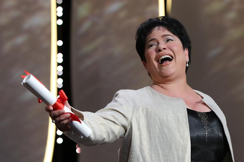 Jaclyn Jose from the Philippines won the best actress award at the Cannes film festival (AFP Photo/Valery Hache)
