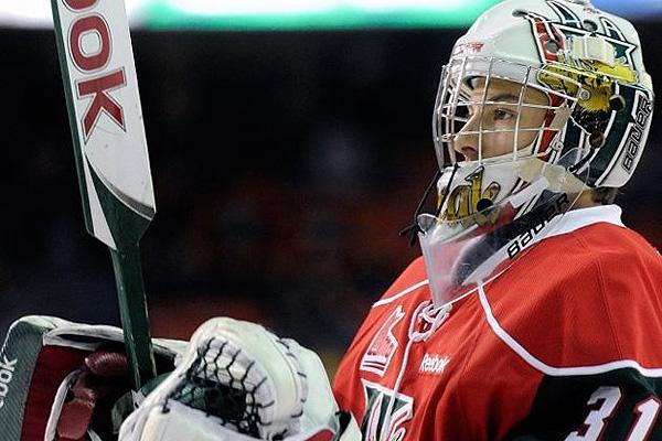 Halifax Mooseheads goalie Zachary Fucale.