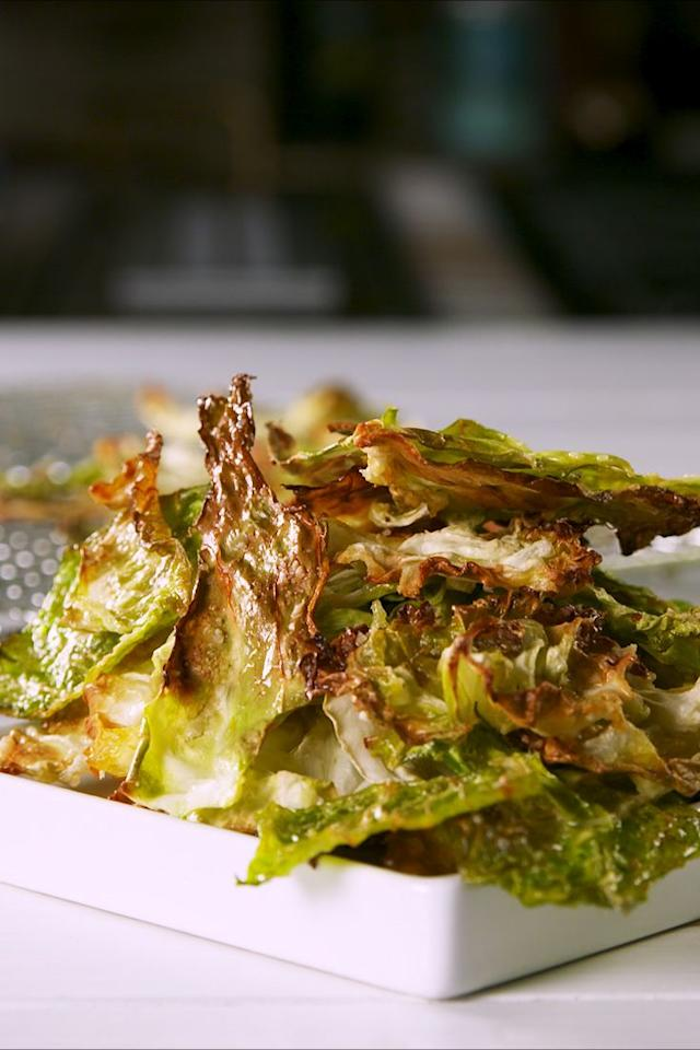 "<p>Move over, kale chips.</p><p>Get the recipe from <a href=""https://www.delish.com/cooking/recipe-ideas/a22666182/cabbage-chips-recipe/"" target=""_blank"">Delish.</a> </p>"