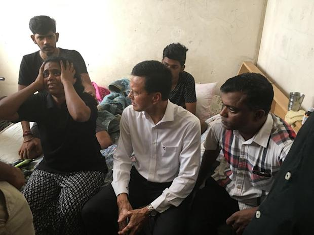 (From left) Kasthuri Bai lamenting her son's death, as Raja Nong Chik and her husband Sathiasilan listen on in Kuala Lumpur January 18, 2018. — Picture by Jerry Choong