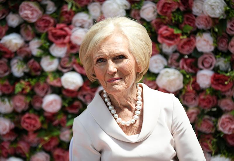 Mary Berry at the Cath Kidston Largest Cream Tea Party at Alexandra Palace, London to celebrate their 25th anniversary.