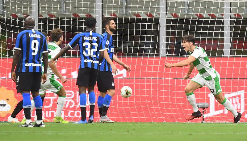 Inter rue open goal miss in draw with Sassuolo