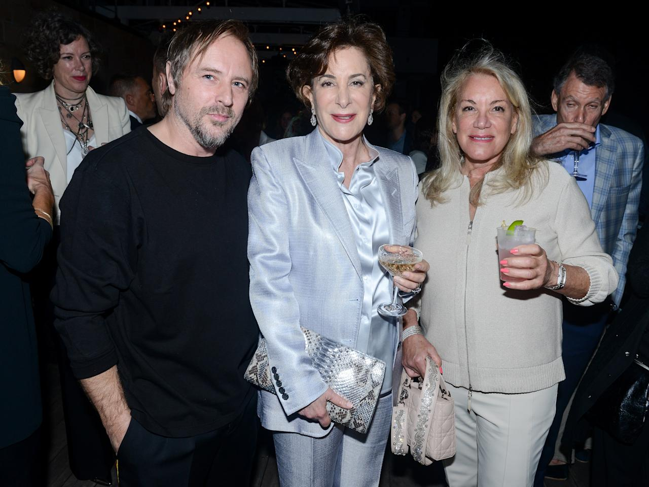 Sterling Ruby, Ray Ellen Yarkin, and Barbara Herzberg attend ICA Dinner For Sterling Ruby at Soho Beach House.