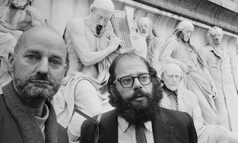 Lawrence Ferlinghetti (left) and Allen Ginsberg in London in 1965.