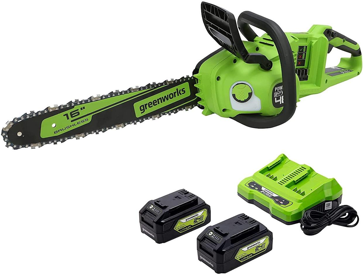 Cut through brush and trees with this battery-powered saw. (Photo: Amazon)