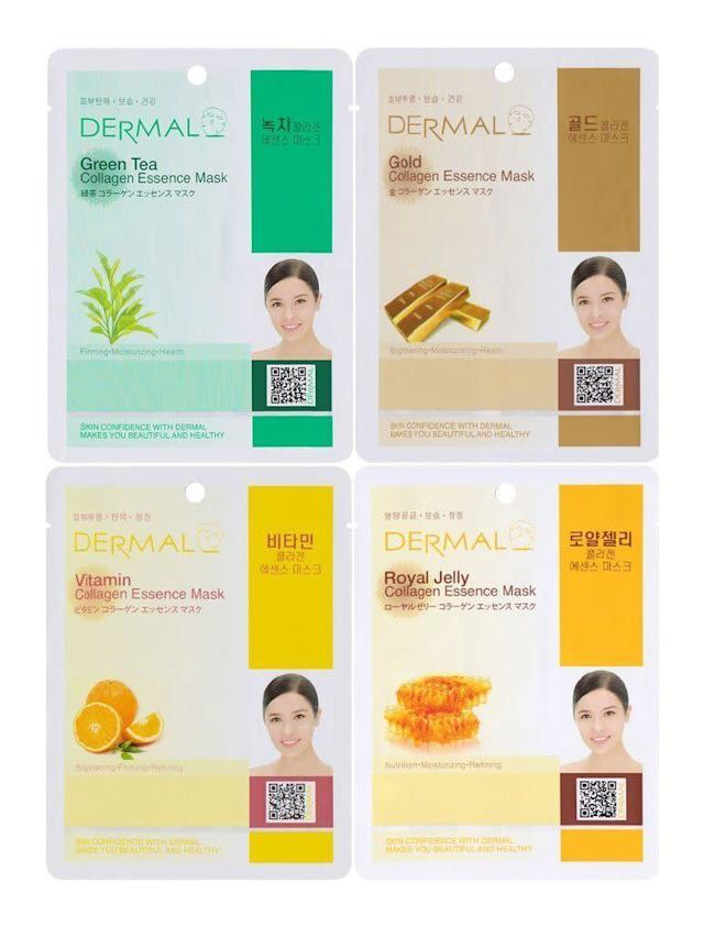 These collagen essence masks by Dermal Korea come in a combo pack with 16 different types. They're super moisturizing and, in terms of sheet masks, quite comfortable on the face. <br><br><strong><span>Get a 16-pack of Dermal Korea's Collagen Essence Sheet Mask for $9.49</span></strong>