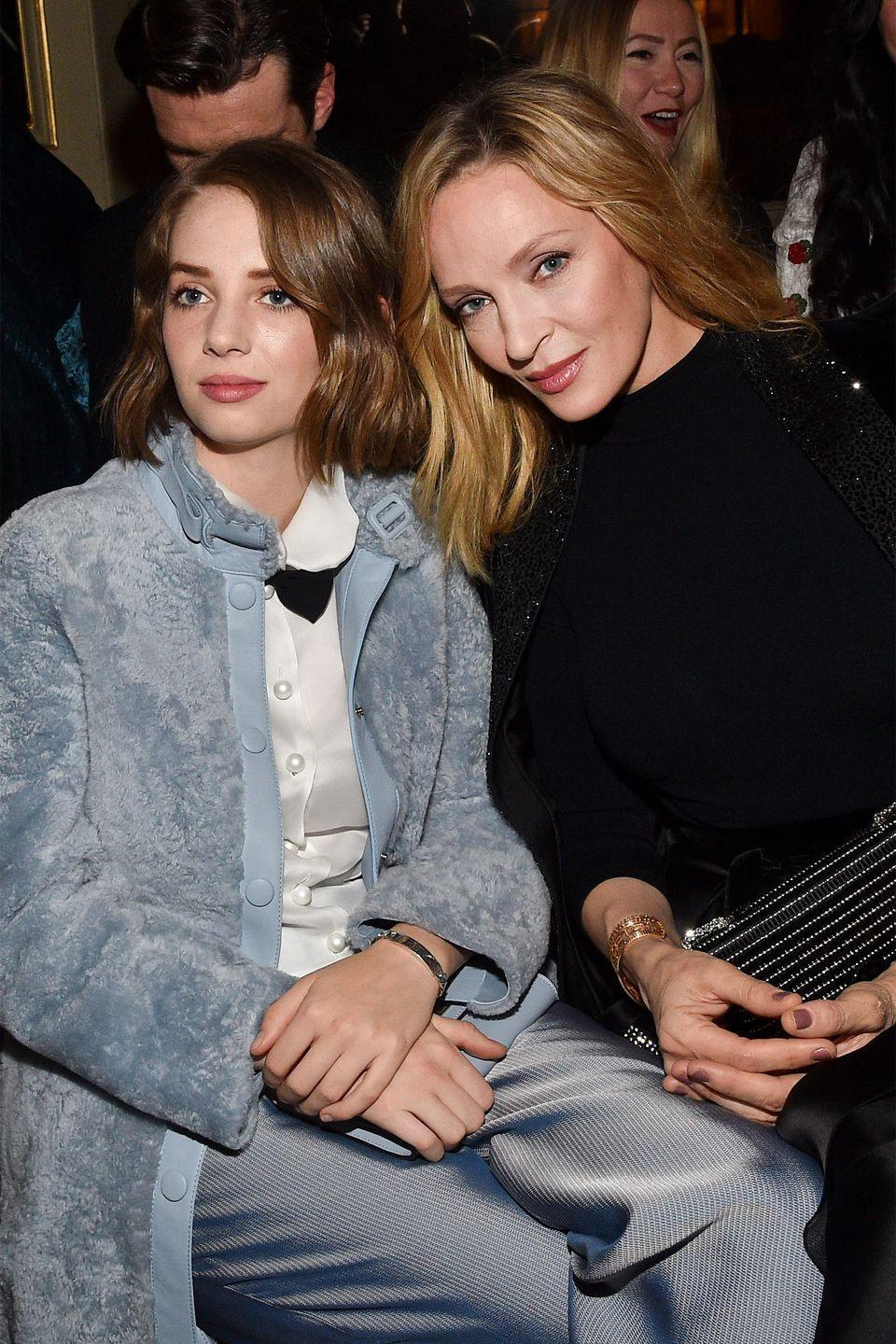 <p><em>Stranger Things</em> actress Maya Hawke mirrors the demeanor and strong facial features of her mother, <em>Kill Bill</em> actress Uma Thurman. Check out their similar eyes, nose, and lips!</p>