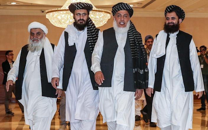 Taliban negotiators have met US officials for nine rounds of talks over more than a year - AFP
