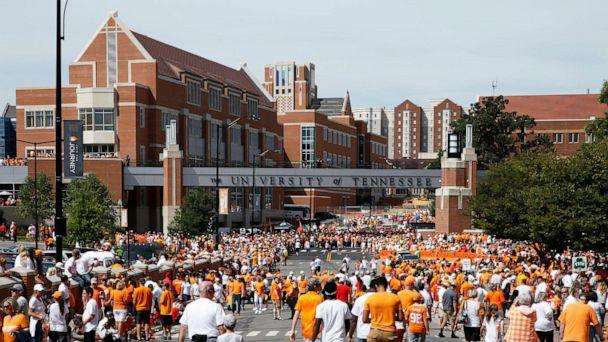 PHOTO: This Sept. 30, 2017, file photo shows a general view as fans congregate along Phillip Fulmer Way near campus prior to a game between the Tennessee Volunteers and Georgia Bulldogs at Neyland Stadium in Knoxville, Tenn. (Joe Robbins/Getty Images, FILE)