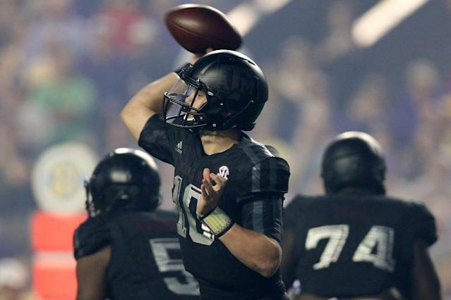Kyle Allen moved down the road from Texas A&M to Houston. (Getty)