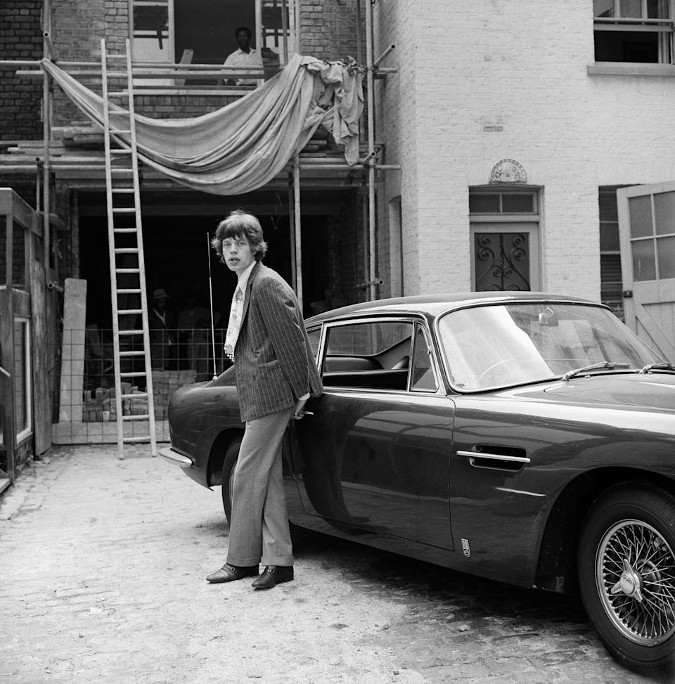 Mick Jagger at Chrissie Shrimpton's Baker Street Mews HouseGered Mankowitz