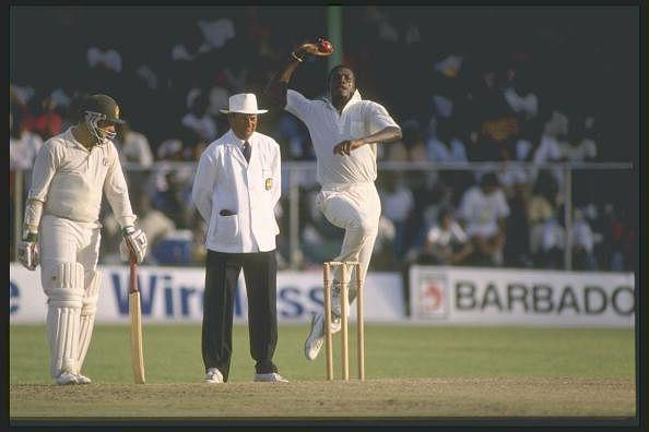 Curtly Ambrose in action
