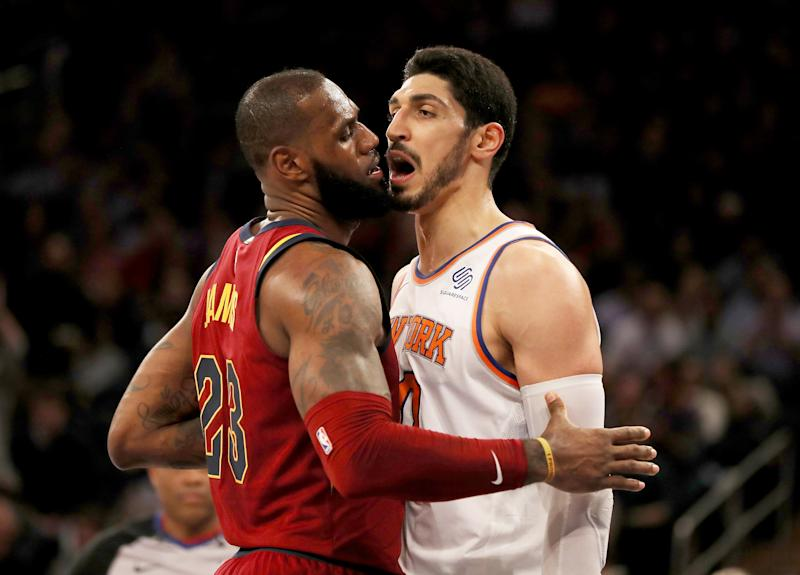 45c9148189f Enes Kanter and the Knicks weren t going to let LeBron James rook Frank  Ntilikina