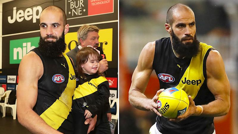 Pictured here, Bachar Houli in action for the Richmond Tigers.