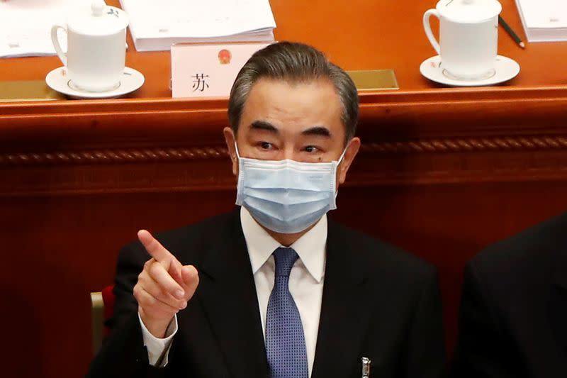 FILE PHOTO: Chinese Foreign Minister Wang Yi attends the opening session of NPC in Beijing