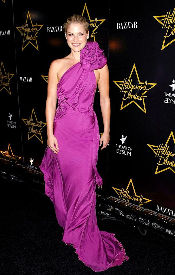 """Heroes"" hottie Ali Larter perfectly paired her classic updo with a magnificent magenta Emanuel Ungaro gown, complete with rosette detailing. Andrew H. Walker/<a href=""http://www.gettyimages.com/"" target=""new"">GettyImages.com</a> - November 9, 2008"