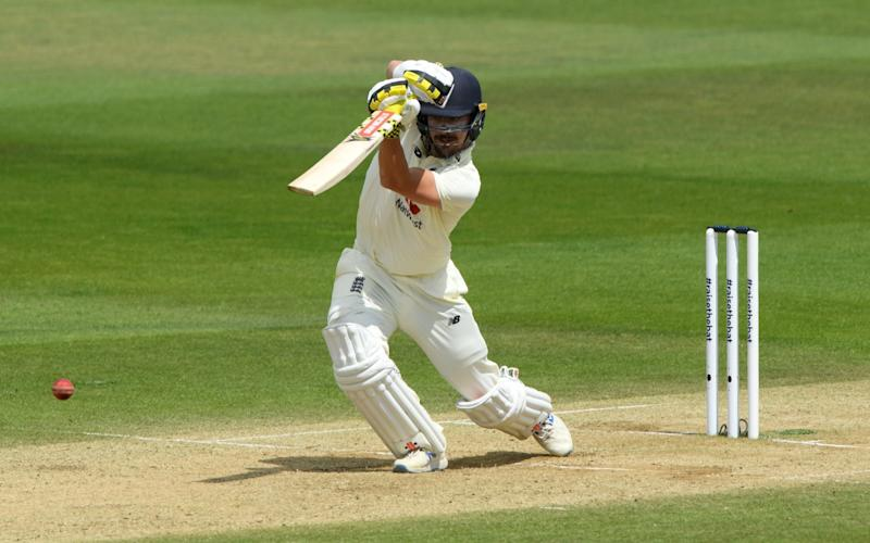 Rory Burns of England bats during day four of the 1st #RaiseTheBat Test match at The Ageas Bowl on July 11, 2020 in Southampton, England. - GETTY IMAGES