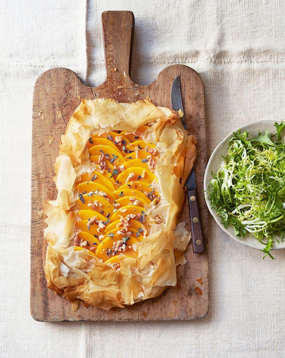 "<p>... or switch it up with frozen phyllo and roasted squash. Still fancy. Still easy.</p><p><em><a href=""https://www.goodhousekeeping.com/food-recipes/a14525/butternut-squash-sage-tart-recipe-ghk0114/"" rel=""nofollow noopener"" target=""_blank"" data-ylk=""slk:Get the recipe for Butternut Squash-Sage Tart »"" class=""link rapid-noclick-resp"">Get the recipe for Butternut Squash-Sage Tart »</a></em> </p>"