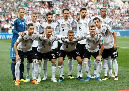 Soccer Football - World Cup - Group F - Germany vs Mexico - Luzhniki Stadium, Moscow, Russia - June 17, 2018 Germany team group before the match REUTERS/Carl Recine
