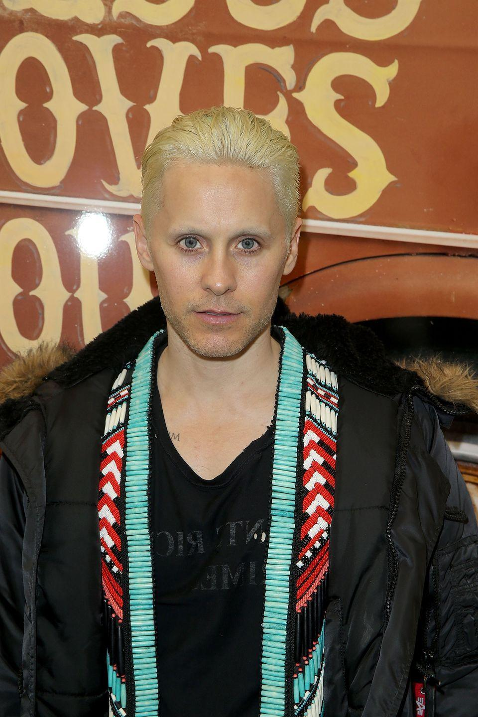 <p>At Paris Fashion Week in 2016, Leto showed up with a short, platinum style. However, this wasn't merely for aesthetics—the actor was preparing for his role as the Joker in <em>Suicide Squad </em>(he'd later dye it a neon green for the part). </p>