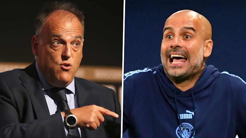 'Man City aren't right, CAS is wrong' - Tebas hits back at Pep following Champions League ruling