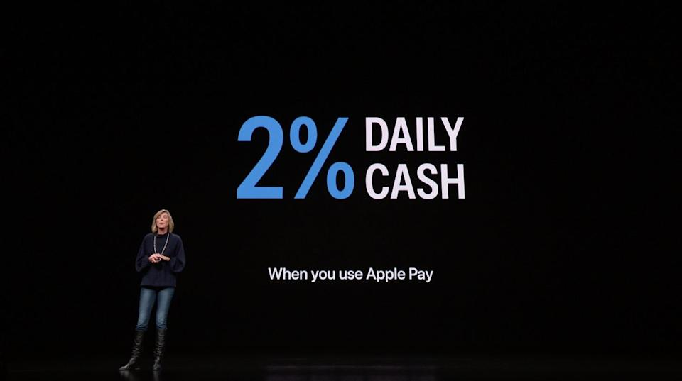 2% cash back — only if you use Apple Pay.