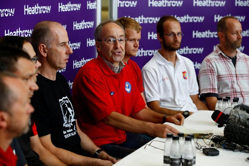 Rick Stanton, Chris Jewell, Connor Roe, Josh Bratchley, Jim Warny, Mike Clayton and Gary Mitchell, are joined by Chairman of the British Cave Rescue Council Peter Dennis recall the Thailand cave rescue mission (REUTERS)