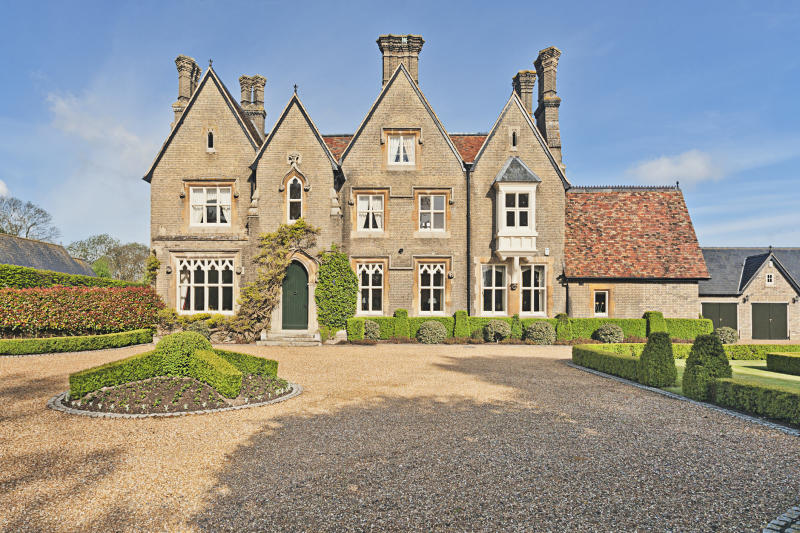 Front Elevation of English Country Home