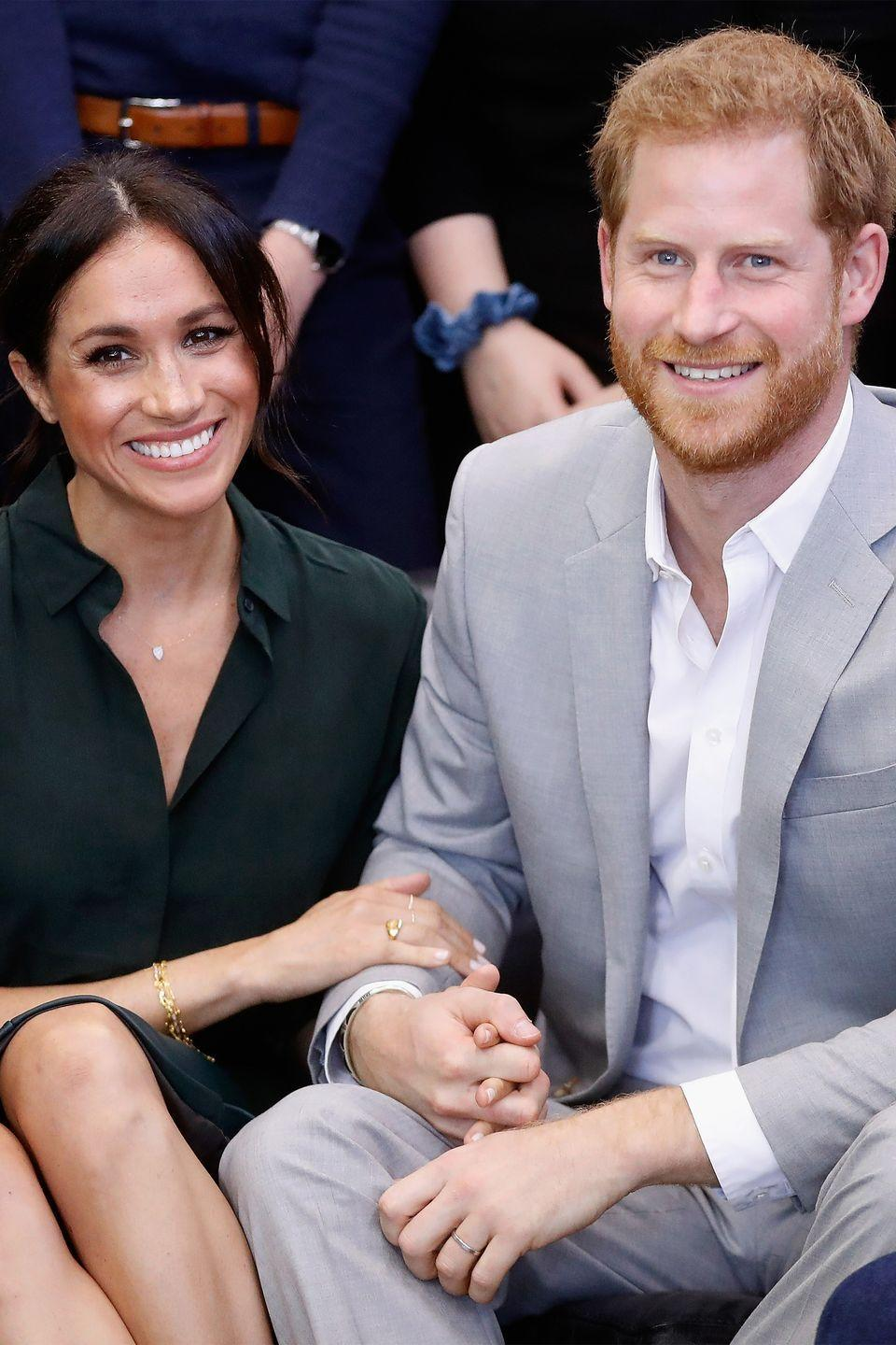 "<p>In a royal romance that took the world by storm, Meghan Markle and Prince Harry first <a href=""https://www.harpersbazaar.com/celebrity/latest/a12466610/prince-harry-meghan-markle-first-joint-appearance/"" rel=""nofollow noopener"" target=""_blank"" data-ylk=""slk:went public"" class=""link rapid-noclick-resp"">went public</a> with their relationship at the 2017 Invictus Games. The duo then <a href=""https://www.harpersbazaar.com/celebrity/latest/a13931895/prince-harry-meghan-markle-engagement-photos/"" rel=""nofollow noopener"" target=""_blank"" data-ylk=""slk:announced their engagement"" class=""link rapid-noclick-resp"">announced their engagement</a> in November of that year, and <a href=""https://www.harpersbazaar.com/celebrity/latest/g20839844/best-prince-harry-meghan-markle-royal-wedding-photos-recap/"" rel=""nofollow noopener"" target=""_blank"" data-ylk=""slk:were married May 2018"" class=""link rapid-noclick-resp"">were married May 2018</a> in a wedding watched by millions. Upon embarking on their <a href=""https://www.harpersbazaar.com/celebrity/latest/a24566405/meghan-markle-prince-harry-australia-tour-behind-the-scenes/"" rel=""nofollow noopener"" target=""_blank"" data-ylk=""slk:first major royal tour"" class=""link rapid-noclick-resp"">first major royal tour</a> together across Australia, Fiji, Tonga, and New Zealand, it was <a href=""https://www.harpersbazaar.com/celebrity/latest/a23769903/meghan-markle-is-pregnant-royal-expecting-baby-prince-harry-announcement/"" rel=""nofollow noopener"" target=""_blank"" data-ylk=""slk:announced"" class=""link rapid-noclick-resp"">announced</a> that couple was expecting their first child. The royal bundle of joy <a href=""https://www.harpersbazaar.com/celebrity/latest/a25887452/meghan-markle-due-date-sex-of-baby/"" rel=""nofollow noopener"" target=""_blank"" data-ylk=""slk:is due"" class=""link rapid-noclick-resp"">is due</a> Spring 2019. </p>"
