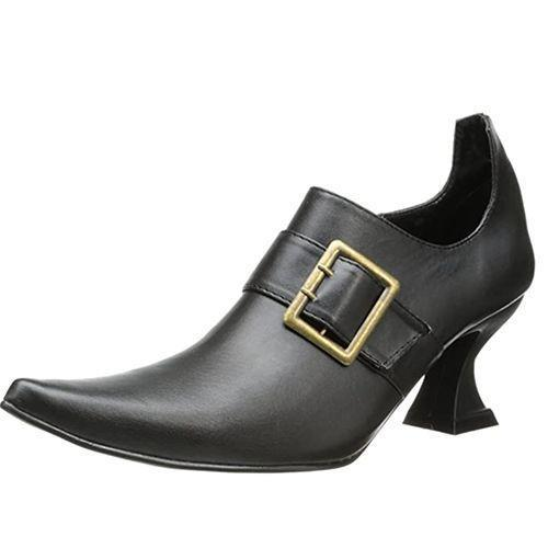 """<p><strong>Ellie Shoes</strong></p><p>amazon.com</p><p><strong>$33.23</strong></p><p><a href=""""https://www.amazon.com/dp/B00309VT58?tag=syn-yahoo-20&ascsubtag=%5Bartid%7C10050.g.4786%5Bsrc%7Cyahoo-us"""" rel=""""nofollow noopener"""" target=""""_blank"""" data-ylk=""""slk:Shop Now"""" class=""""link rapid-noclick-resp"""">Shop Now</a></p><p>Complete your Sanderson sister ensemble with these black leather witch boots that have a 2.5"""" heel and pointed toe.</p>"""