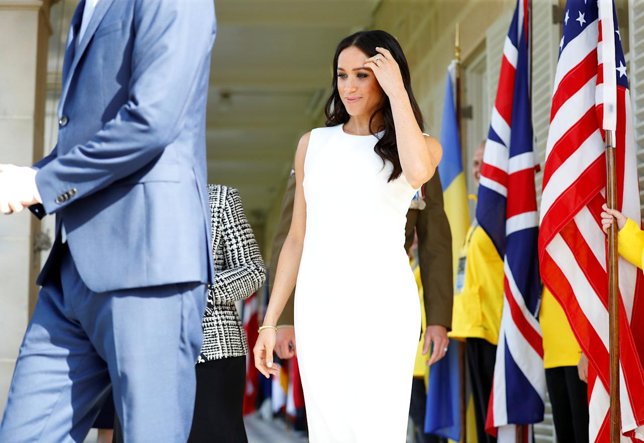 Britain's Meghan, Duchess of Sussex arrives at Admiralty House in Sydney, Australia October 16, 2018. REUTERS/Phil Noble/Pool     TPX IMAGES OF THE DAY