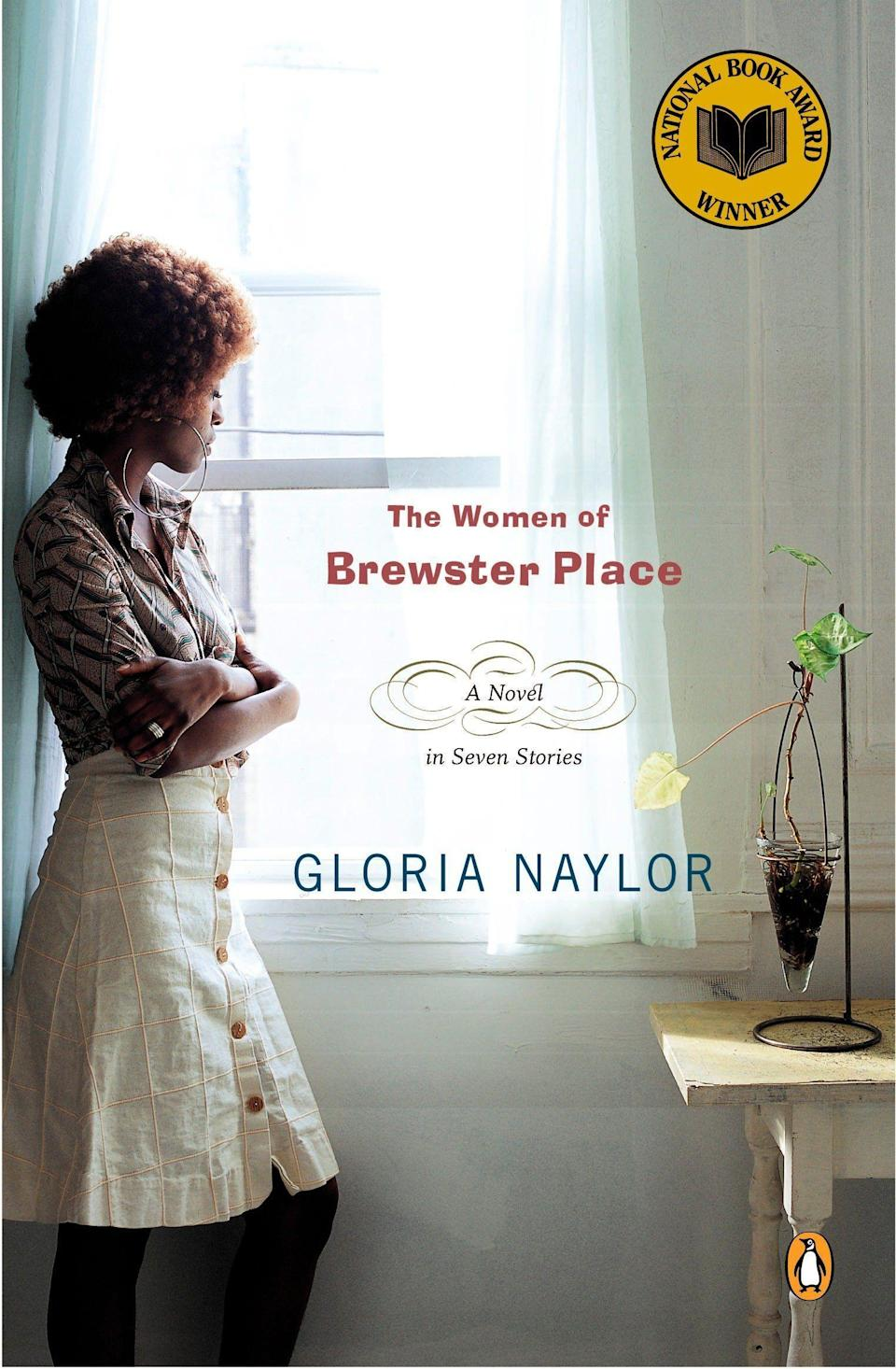 """<p><strong>Gloria Naylor</strong></p><p>amazon.com</p><p><strong>$12.39</strong></p><p><a href=""""https://www.amazon.com/dp/014006690X?tag=syn-yahoo-20&ascsubtag=%5Bartid%7C10055.g.22749180%5Bsrc%7Cyahoo-us"""" rel=""""nofollow noopener"""" target=""""_blank"""" data-ylk=""""slk:Shop Now"""" class=""""link rapid-noclick-resp"""">Shop Now</a></p><p>This book weaves together the worlds of seven women in a bleak inner-city sanctuary called Brewster Place. It offers an eye-opening portrayal of just how many paths a woman's life can take, as well as the struggles, strengths, and fierce hope of black women in America. </p>"""