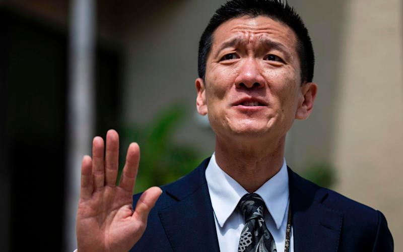 Douglas Chin, Hawaii's attorney general, said the filings asked the court to declare parts of the order contrary to the constitution and federal law - Credit: AFP