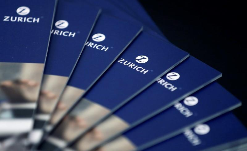 Zurich Insurance Group brochures are seen before the annual news conference in Zurich