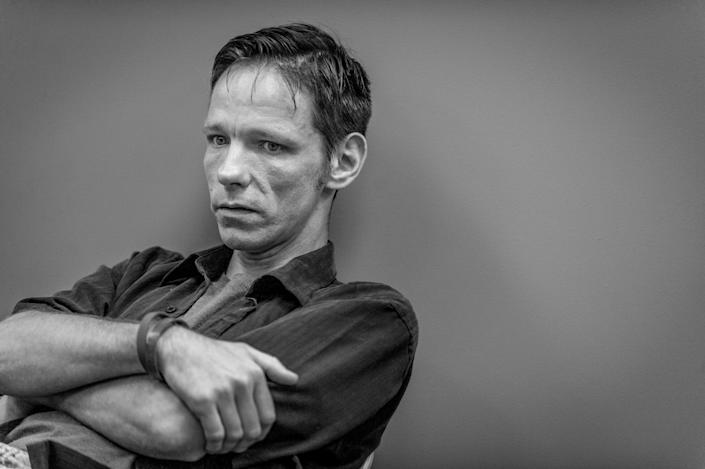 <p>Jack Barrett, a recovering heroin addict, attends group therapy at Groups in Middletown, Ohio. He credits this treatment center with saving his life.<br> (Photograph by Mary F. Calvert for Yahoo News) </p>