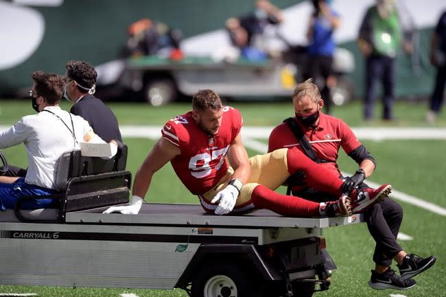Niners, Giants battling injury bug after just two games