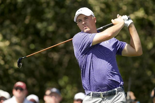 Jordan Spieth hits off the fifth tee during the second round of the Valspar Championship at Innisbrook Resort Copperhead Course on March 11, 2016 in Palm Harbor, Florida (AFP Photo/Mike Lawrie)