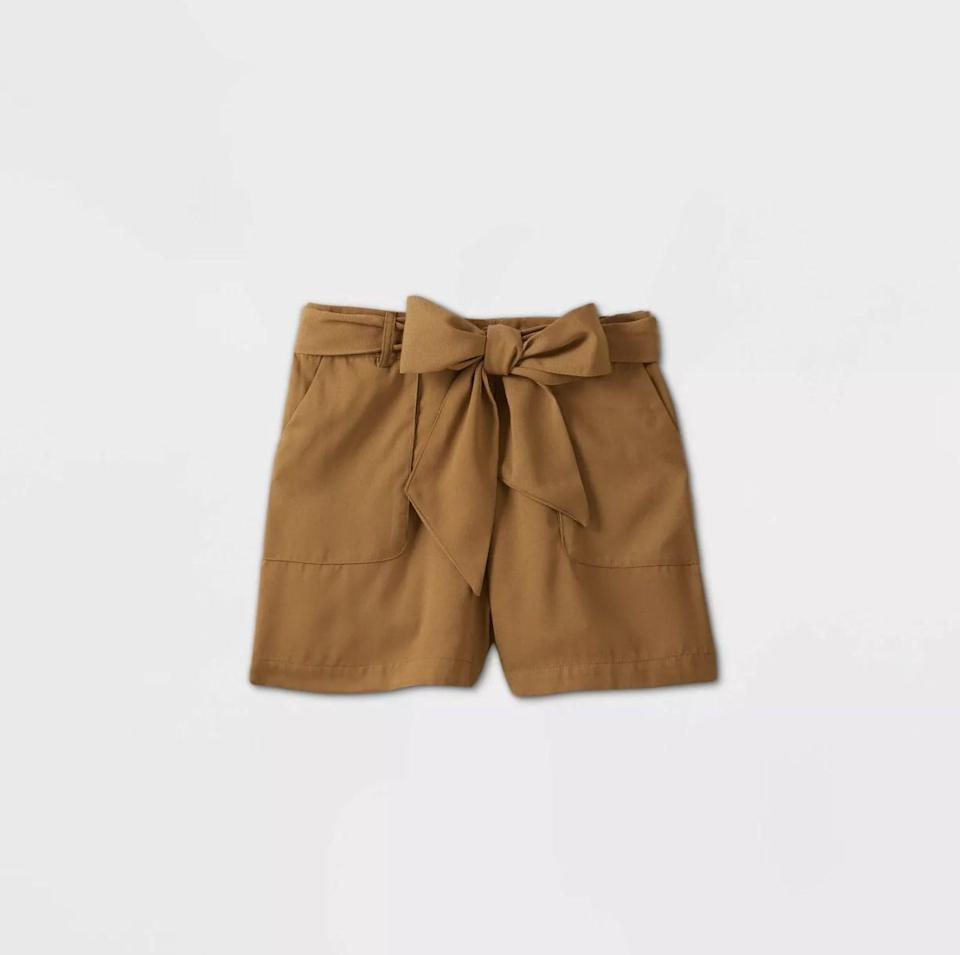 <p>These <span>A New Day Mid-Rise Tie Waist Shorts</span> ($20) are a great choice for relaxed days.</p>
