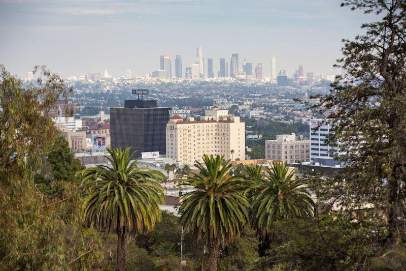 Flights to LA: The view from Runyon Canyon