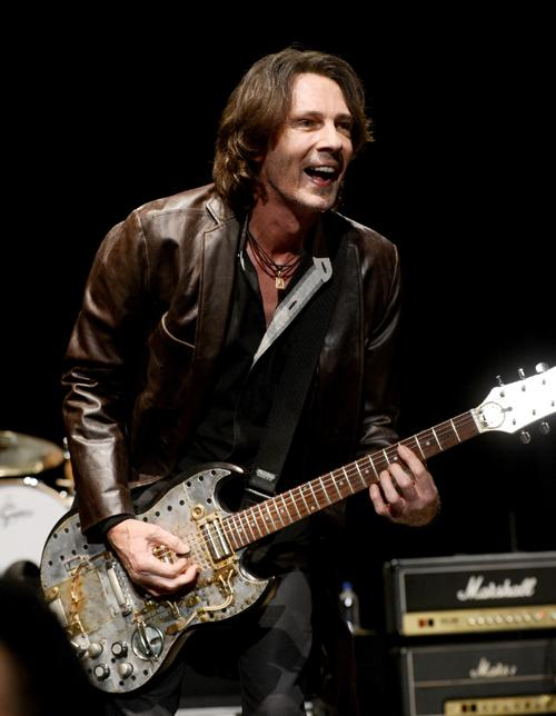 Rick Springfield performs at the concert to celebrate the premiere of 'Sound City' at the Hollywood Palladium in Los Angeles, California.