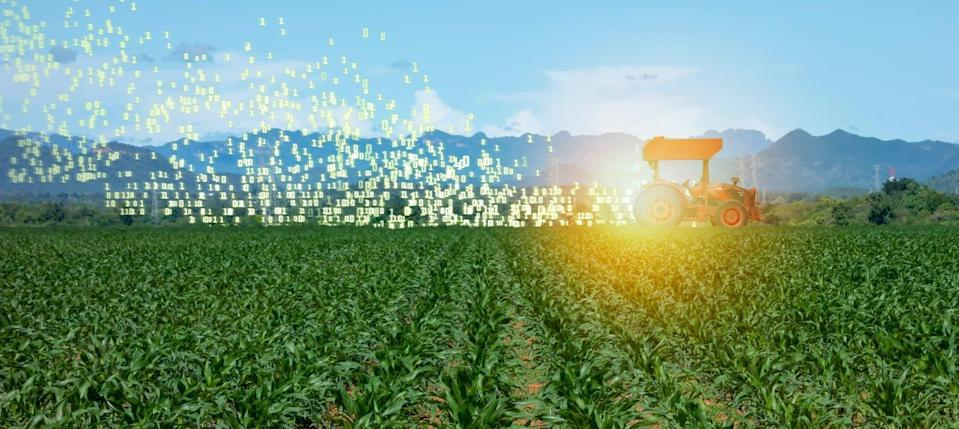 "<span class=""caption"">Soon robotic smart tractors will drive themselves through fields and will use data to plant the right seed in the right place and give each plant exactly the right amount of fertilizer, cutting down on energy, pollution and waste.</span> <span class=""attribution""><span class=""source"">(Shutterstock)</span></span>"