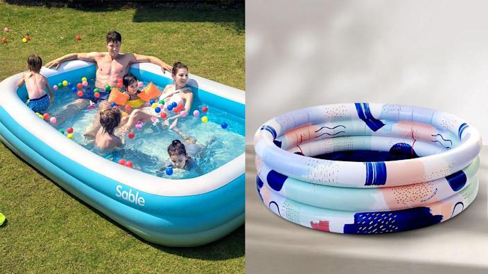 There are still a few inflatable pools in stock online.