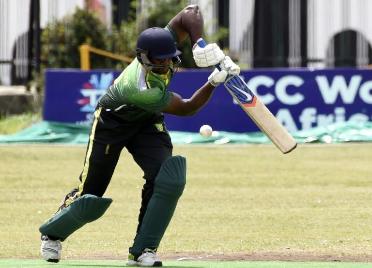 A Nigerian batsman in action against Ghana in an ICC World T20 African 'A' qualification match (AFP Photo/PIUS UTOMI EKPEI)