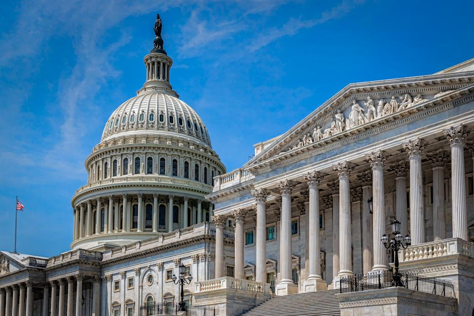 The United States capitol building in Washington DC on a summer day. (Photo: Getty)