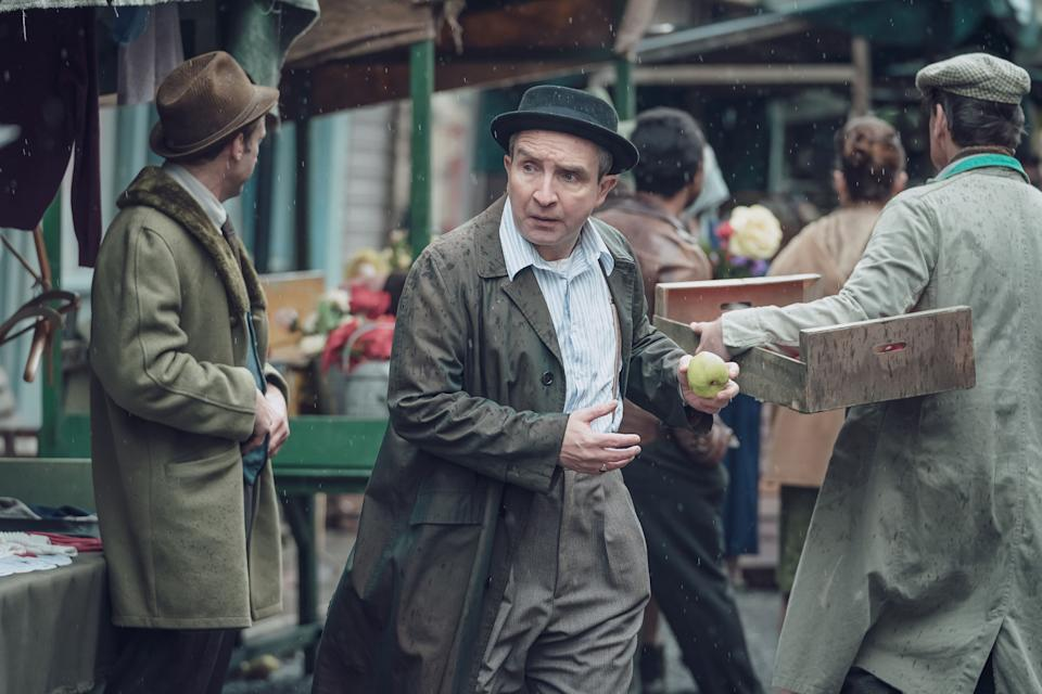 WARNING: Embargoed for publication until 00:00:01 on 28/09/2021 - Programme Name: Ridley Road - TX: n/a - Episode: 1 (No. 1) - Picture Shows:  Soly Malinovsky (EDDIE MARSAN) - (C) Red Productions - Photographer: Ben Blackall