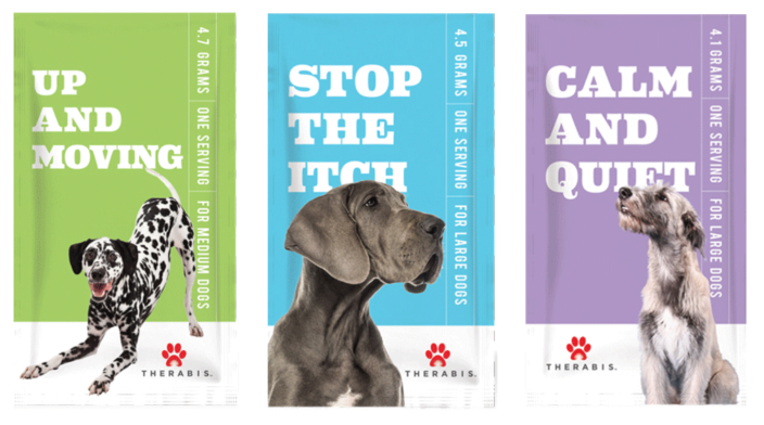 Therabis, which makes cannabis edibles for dogs, is one of the brands Dixie distributes. (via DixieElixirs.com)